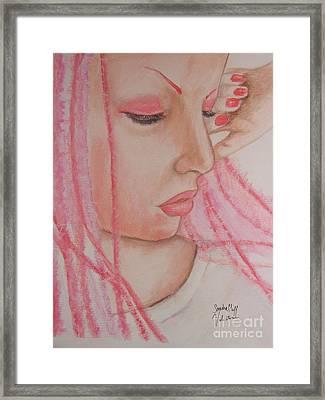 Pink Framed Print by Sandra Valentini