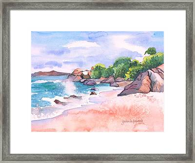 Pink Sands Framed Print by Yolanda Koh