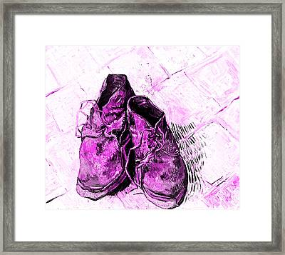 Pink Shoes Framed Print