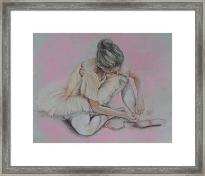 Pink Shoes Framed Print by Sandra Valentini