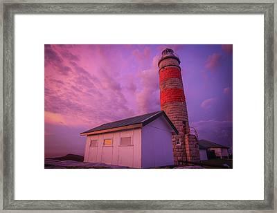 Pink Skies At Cape Moreton Lighthouse Framed Print