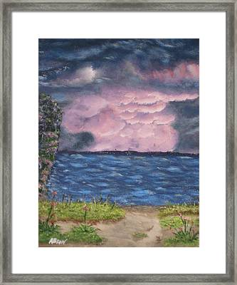Pink Sky Framed Print by Allison Prior