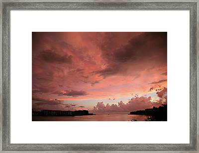 Framed Print featuring the photograph Pink Sky At Night by Carol Kinkead