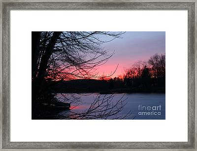 Pink Sky At Night Framed Print