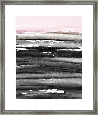Pink Sky Horizon- Art By Linda Woods Framed Print