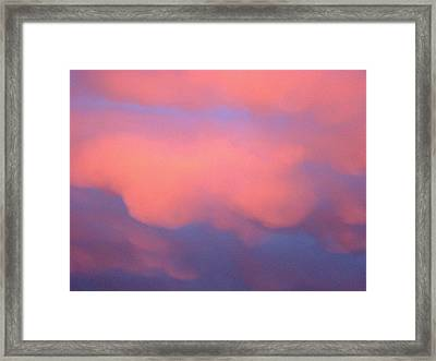Pink Sky Framed Print by Marcia Crispino