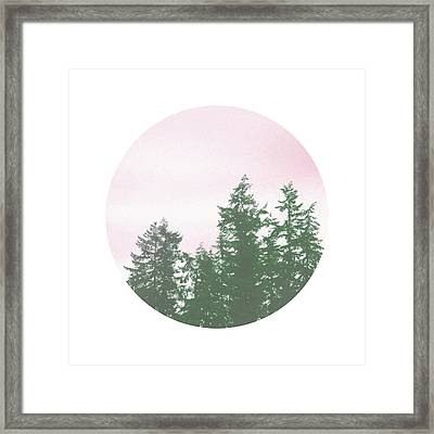 Pink Sky Trees- Art By Linda Woods Framed Print by Linda Woods