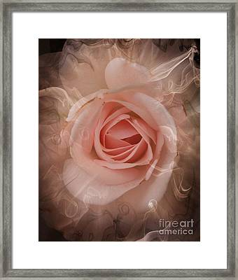 Pink Smokey Framed Print by Clare Bevan