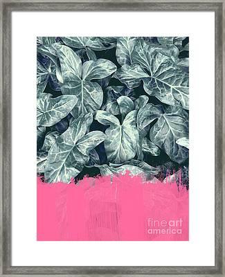 Pink Sorbet On Jungle Framed Print