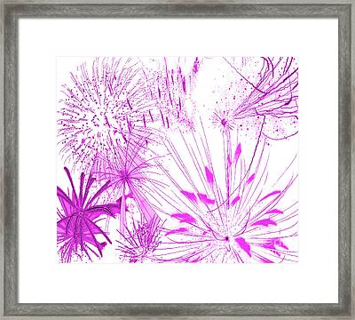 Framed Print featuring the digital art Pink Splash Watercolor by Methune Hively