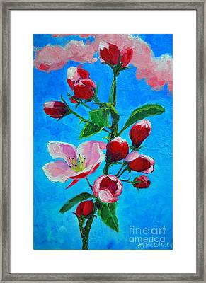 Framed Print featuring the painting Pink Spring by Ana Maria Edulescu
