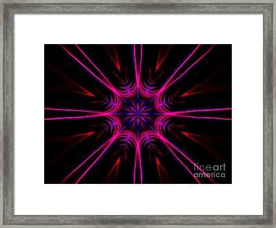 Pink Starburst Fractal  Framed Print
