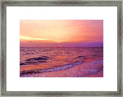 Pink Sunrise Framed Print by Kristin Elmquist