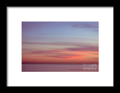 Ocean Sunset Framed Prints