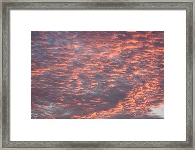 Pink Sunset Framed Print