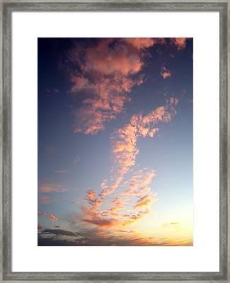Pink Sunset One Framed Print by Ana Villaronga