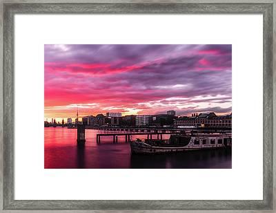 Pink Sunset Over Berlin Framed Print