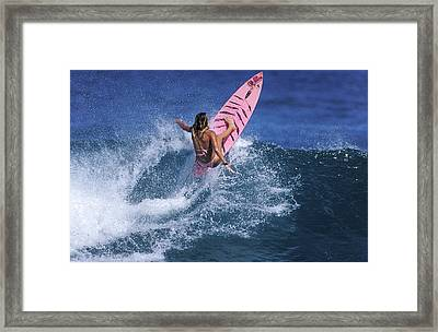 Pink Surfer. Framed Print