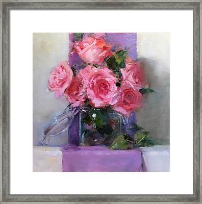 Pink Tease Framed Print by Chris  Saper