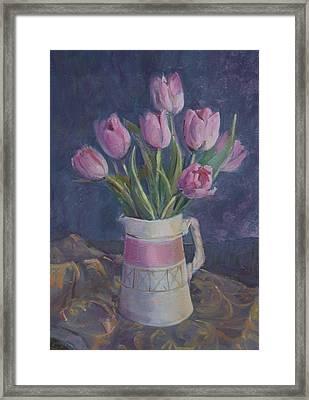 Pink Tulips Framed Print