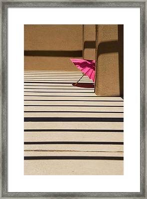 Framed Print featuring the photograph Pink Umbrella by Carolyn Dalessandro