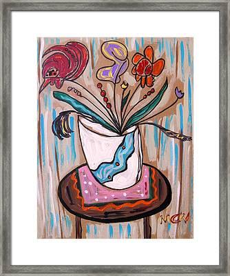 Pink Underneath Framed Print by Mary Carol Williams