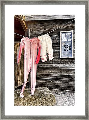Pink Undies Framed Print by Wendy White
