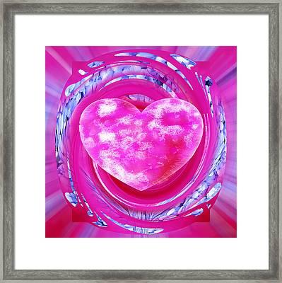 Pink Valentine Heart Framed Print