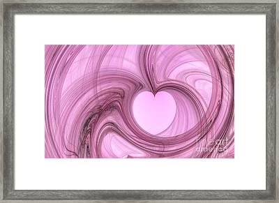 Pink Valentine Framed Print by YoursByShores Isabella Shores