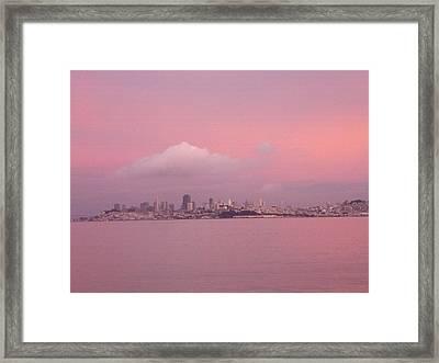 Pink Framed Print by Vari Buendia