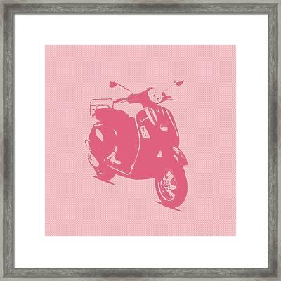 Pink Vespa Framed Print by Denis Bouchard