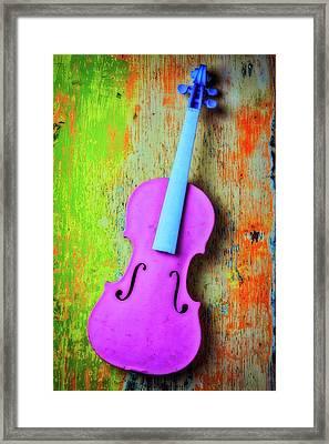 Pink Violin Framed Print by Garry Gay