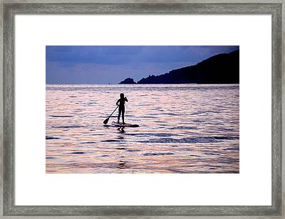 Pink Water Girl Framed Print