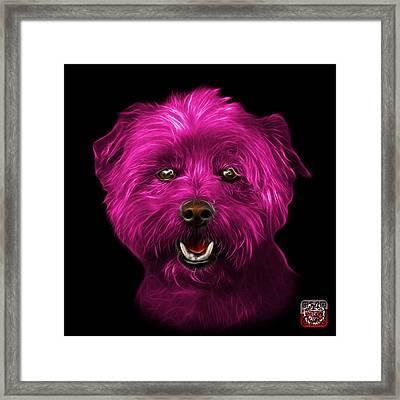 Pink West Highland Terrier Mix - 8674 - Bb Framed Print