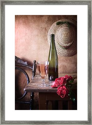 Pink Wine And Roses Framed Print by Nikolay Panov