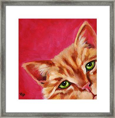 Pink With Attitude Framed Print by Pat Burns