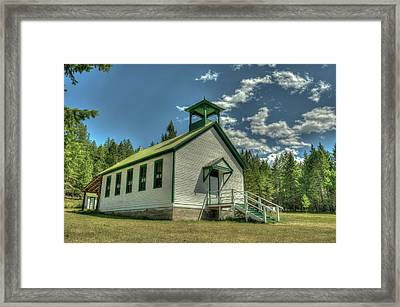 Pinkham Creek School House Framed Print by Constance Puttkemery