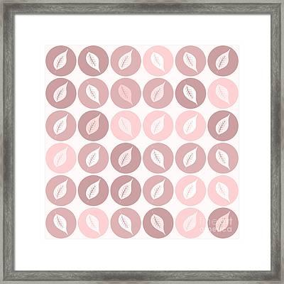 Pinkish Leaves Framed Print by Gaspar Avila