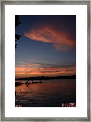 Pinks And Blues Framed Print by Lisa Wooten