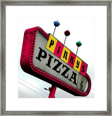 Pinky Is My Name And Pizza Is My Game Framed Print