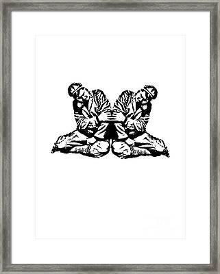 Pinky Swear T-shirt Framed Print by Edward Fielding