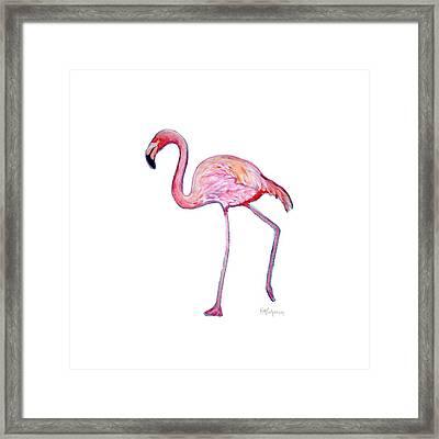 Pinky The Flamingo Framed Print