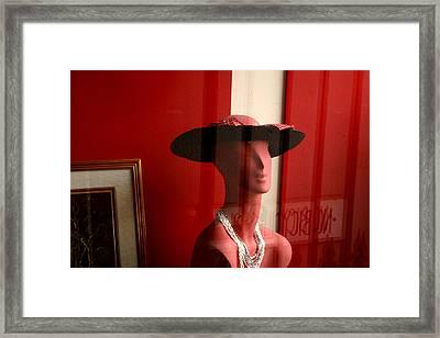 Pinky Waiting Framed Print by Jez C Self