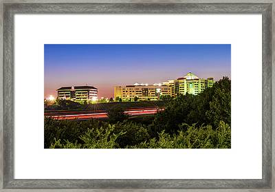 Pinnacle Hills Cityscape - Rogers - Northwest Arkansas Framed Print