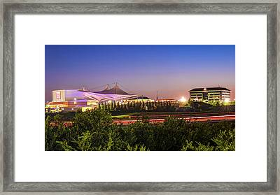 Pinnacle Hills Cityscape - Walmart Amp - Northwest Arkansas Framed Print