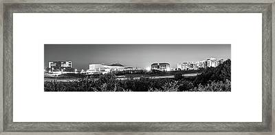 Pinnacle Hills Skyline Panorama - Bentonville - Rogers - Northwest Arkansas - Black And White Framed Print