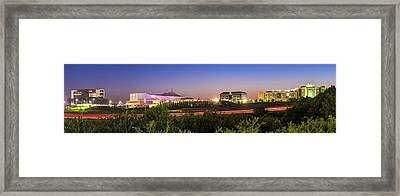 Pinnacle Hills Skyline Panorama - Bentonville - Rogers - Northwest Arkansas Framed Print