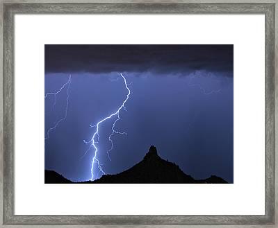 Pinnacle Peak Lightning  Framed Print by James BO  Insogna