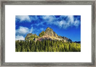 Pinnacle Peak Framed Print