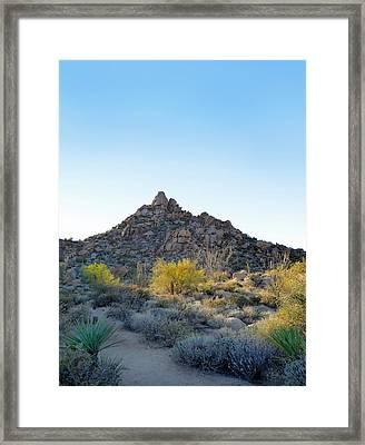 Pinnacle Peak Trail Framed Print